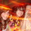 Con las chicas en Club 74.