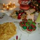 Mi última mesa navideña, con cupcakes alusivos