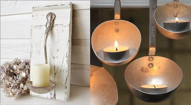 Decoidea cucharones que se convierten en candelabros - Objetos decoracion cocina ...