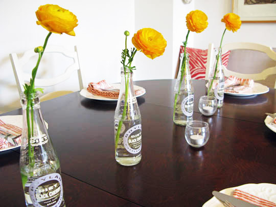 de la abuela), le sumas una flor y tienes un regio centro de mesa