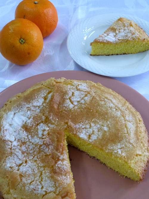 torta naranja polenta
