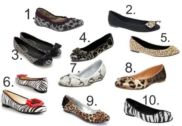 zapatos flats animal print