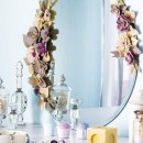 espejo flores